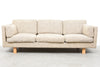Danish three seat wool sofa