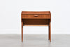 1960s Danish teak side table on splayed legs
