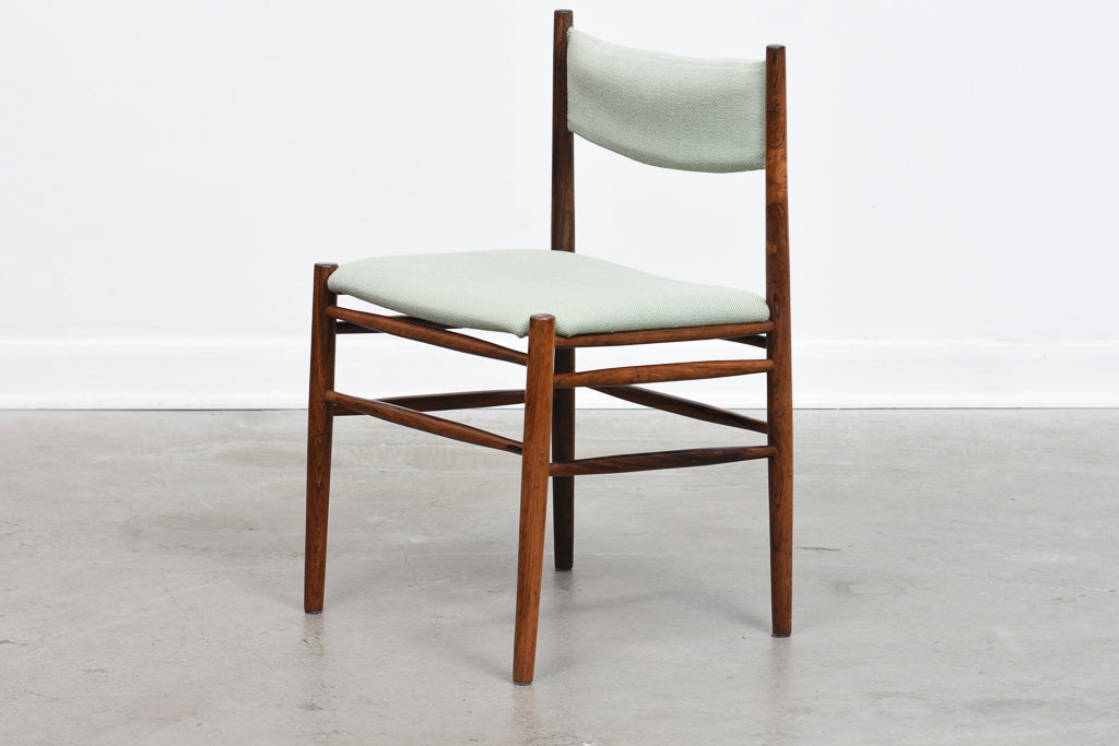 Six available: 1960s Brazilian rosewood dining chairs