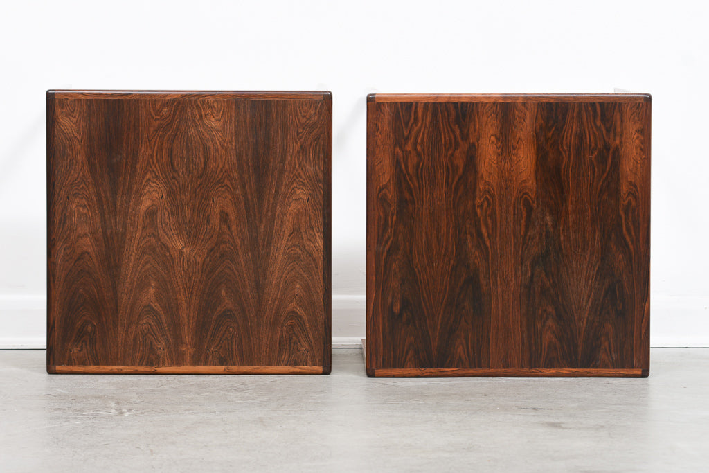 Two available: Vintage rosewood side tables
