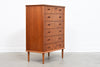 1950s teak chest of six drawers
