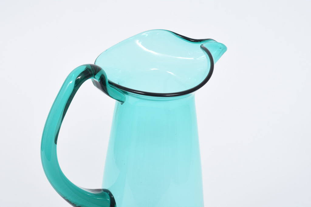 LeneMay18 Hand-blown glass pitcher