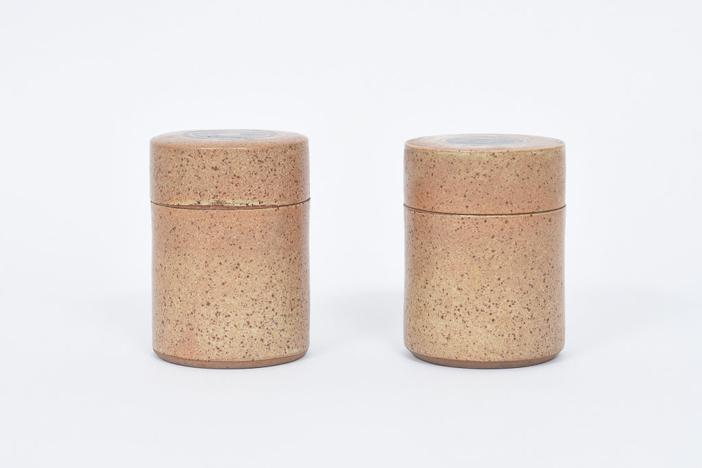 Pair of stoneware jars signed S.L.