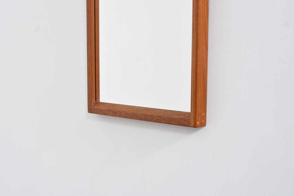 Rectangular teak mirror by Aksel Kjærsgård