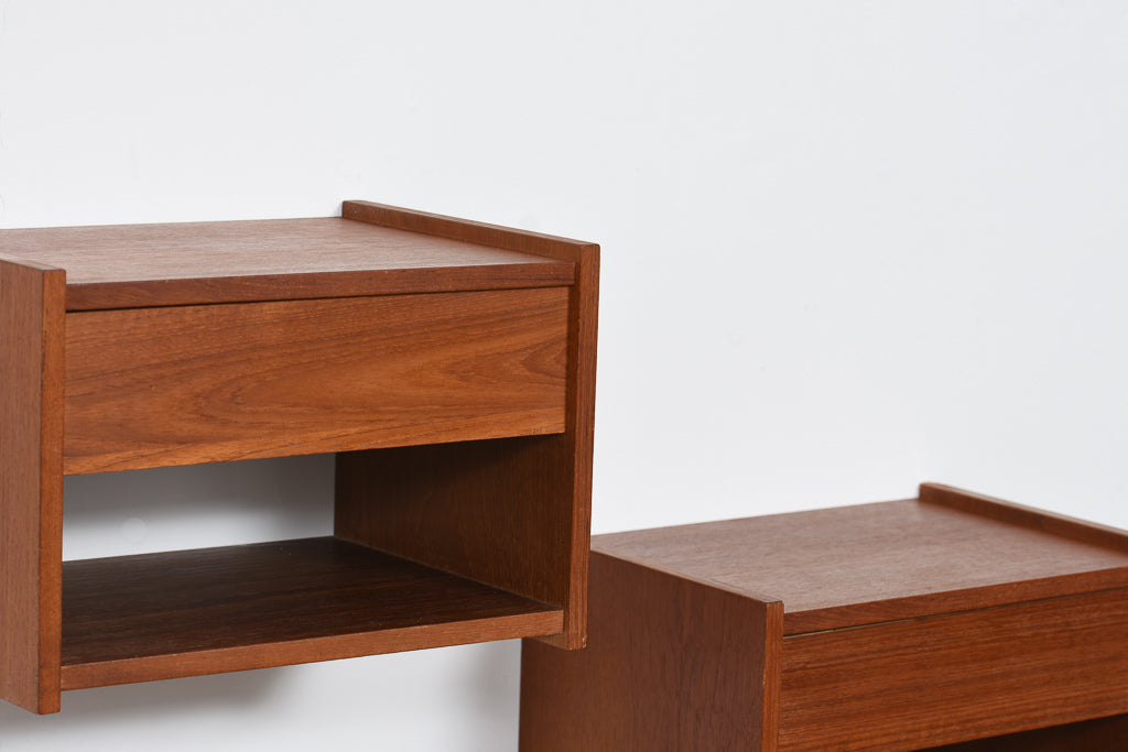Pair of 1960s floating bedside tables