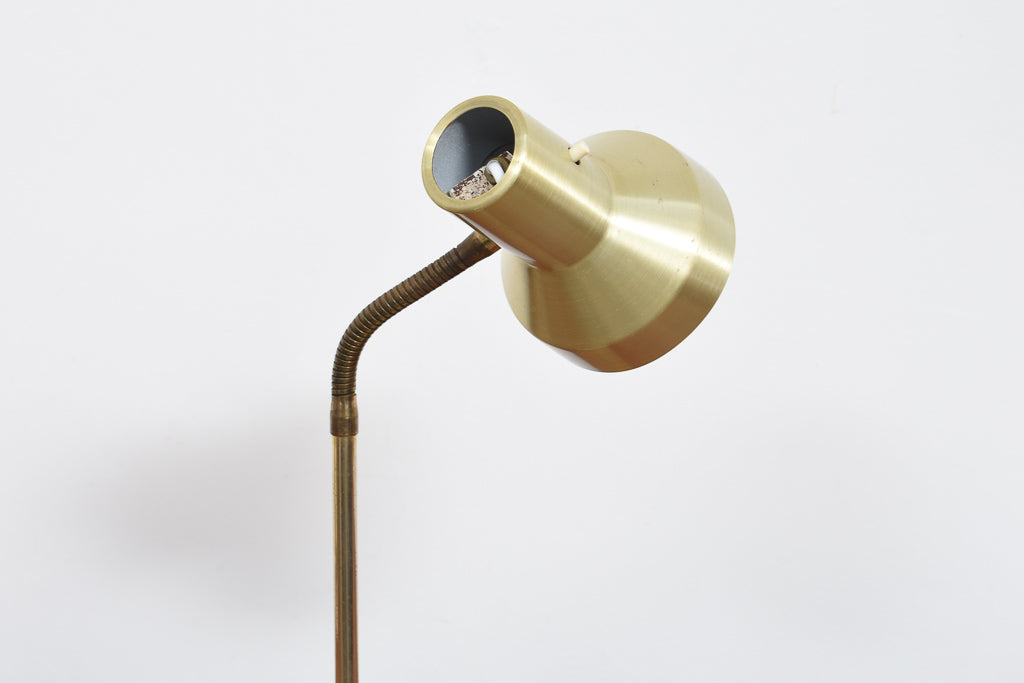 1960s Danish brass table lamp