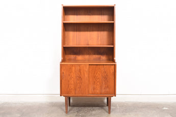 Two available: Teak bookshelf with low storage