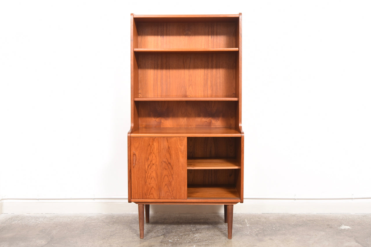 Two Available Teak Bookshelf With Low Storage