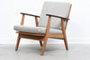 Danish lounger in teak + oak