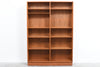 Two available: Large teak bookshelf by Poul Hundevad