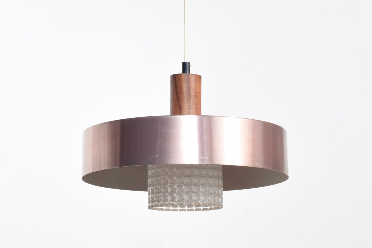 Not specified Brass and glass ceiling lamp