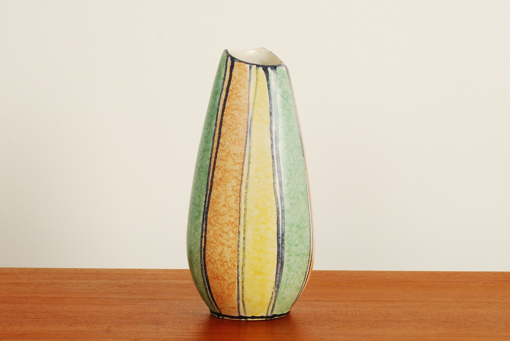 Striped W. German vase