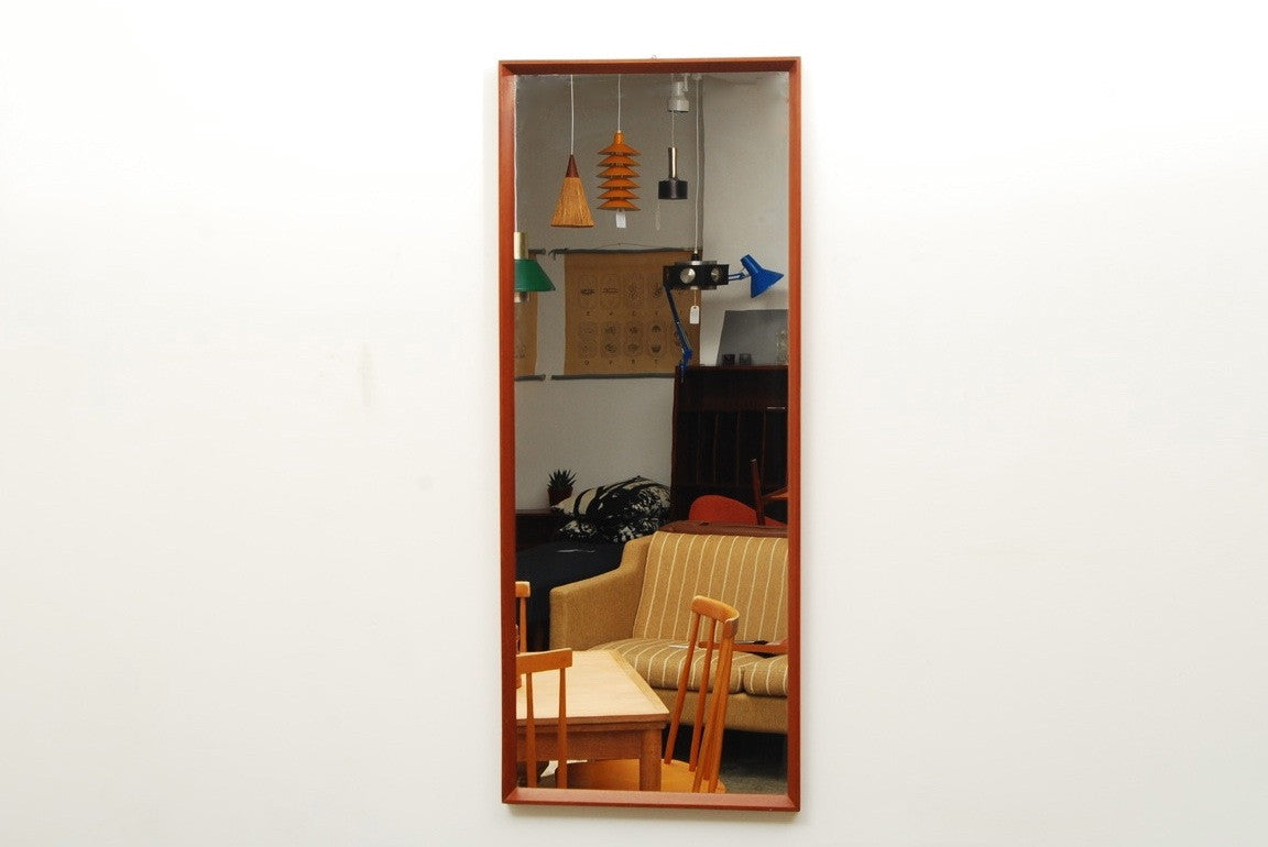 Full length teak mirror