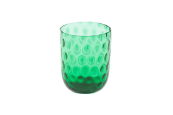 Danish Summer Tumbler Glass - Emerald Green