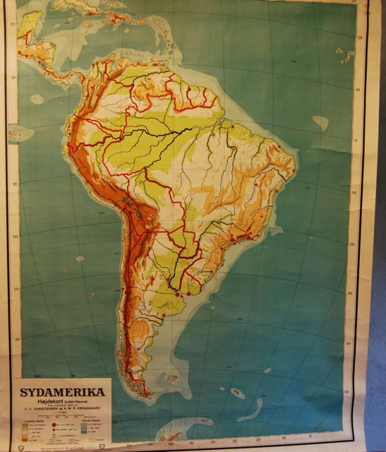Chase & Sorensen Map of South America
