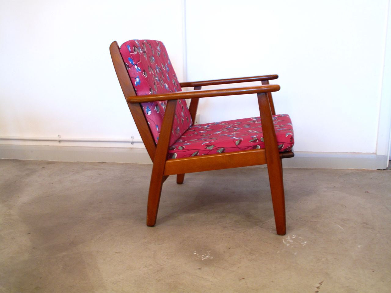 Stained beech lounge chair no. 2