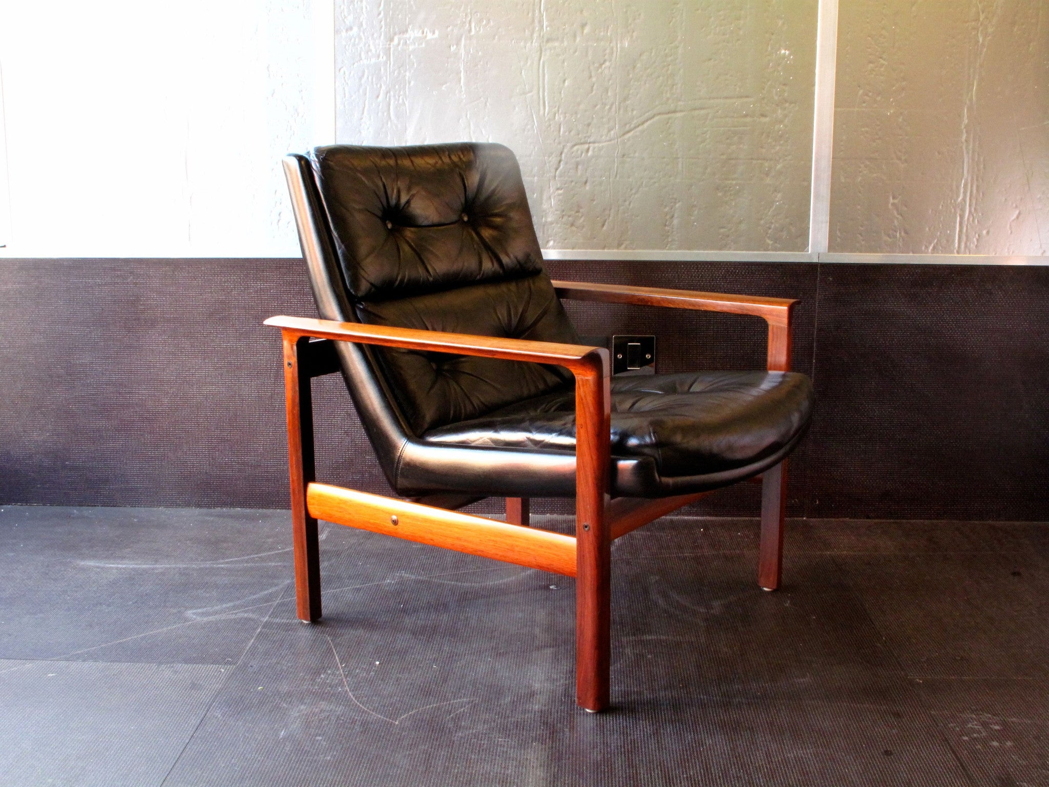 Pair of rosewood lounge chairs