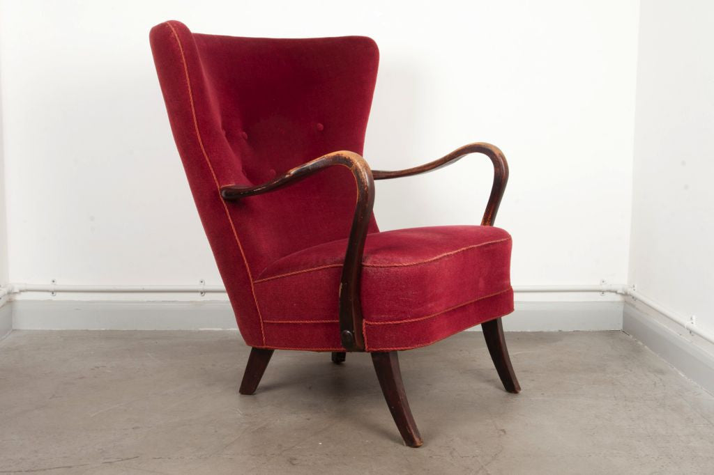 1940s wingback chair