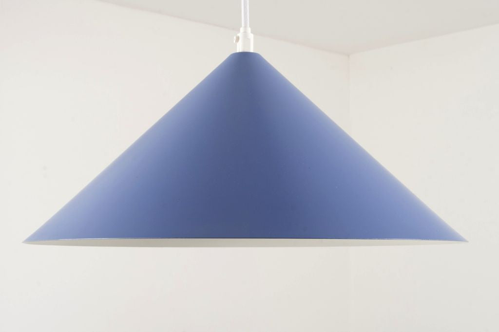 Blue / white dome ceiling lamp