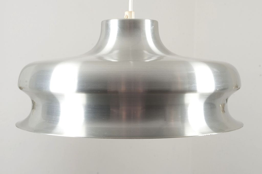 1970s chrome / white ceiling lamp