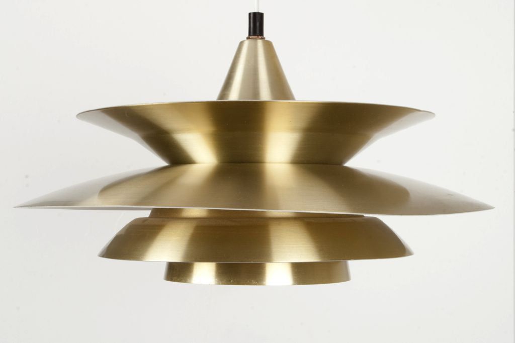 Chase & Sorensen Brass ceiling lamp no. 2