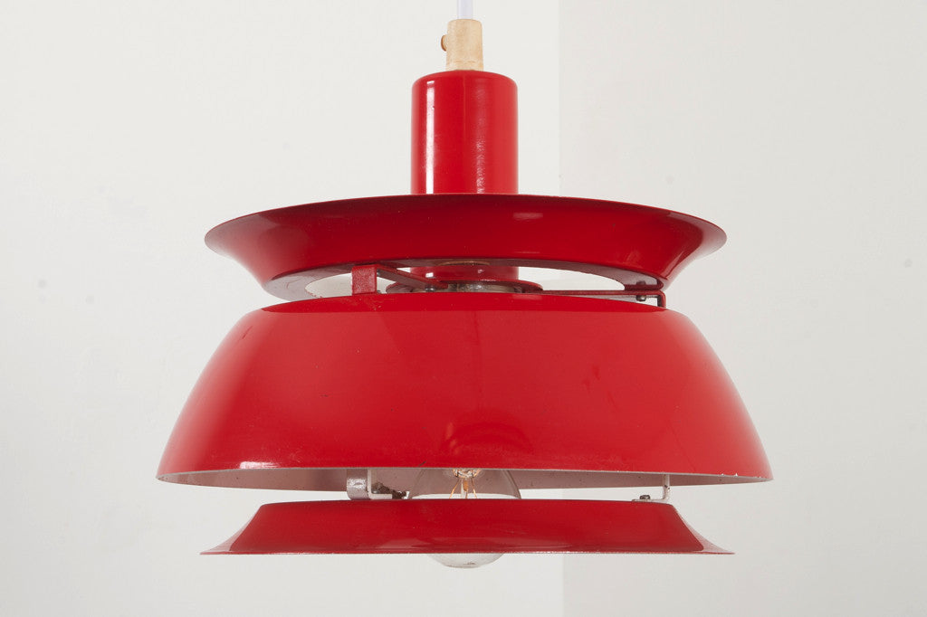 Red ceiling lamp by Lyfa