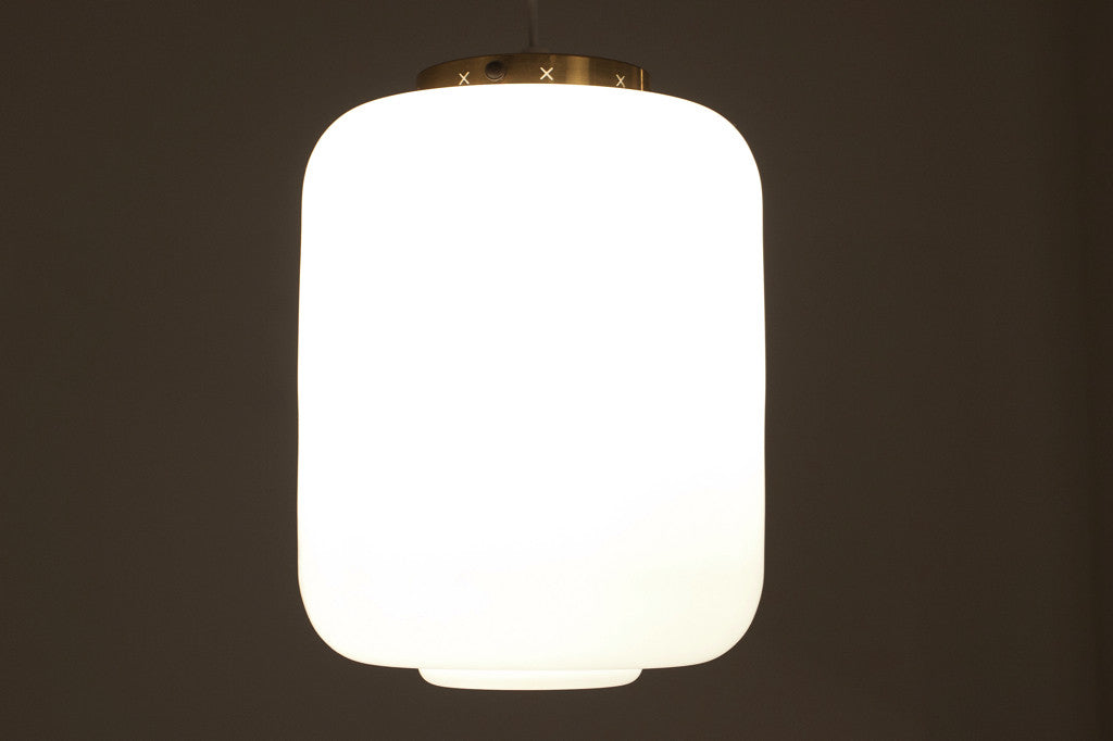 Chase & Sorensen Glass ceiling lamp by Lyfa