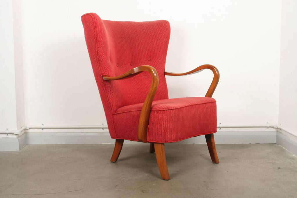 Chase & Sorensen 1940s wingback chair