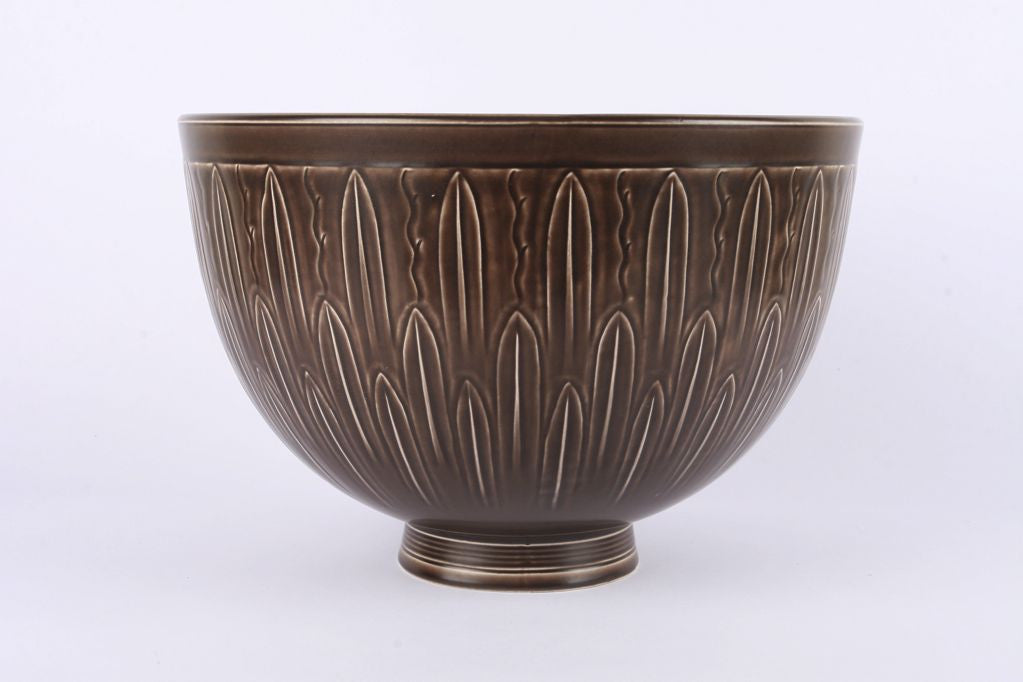 Large ceramic bowl by Nils Thorsson