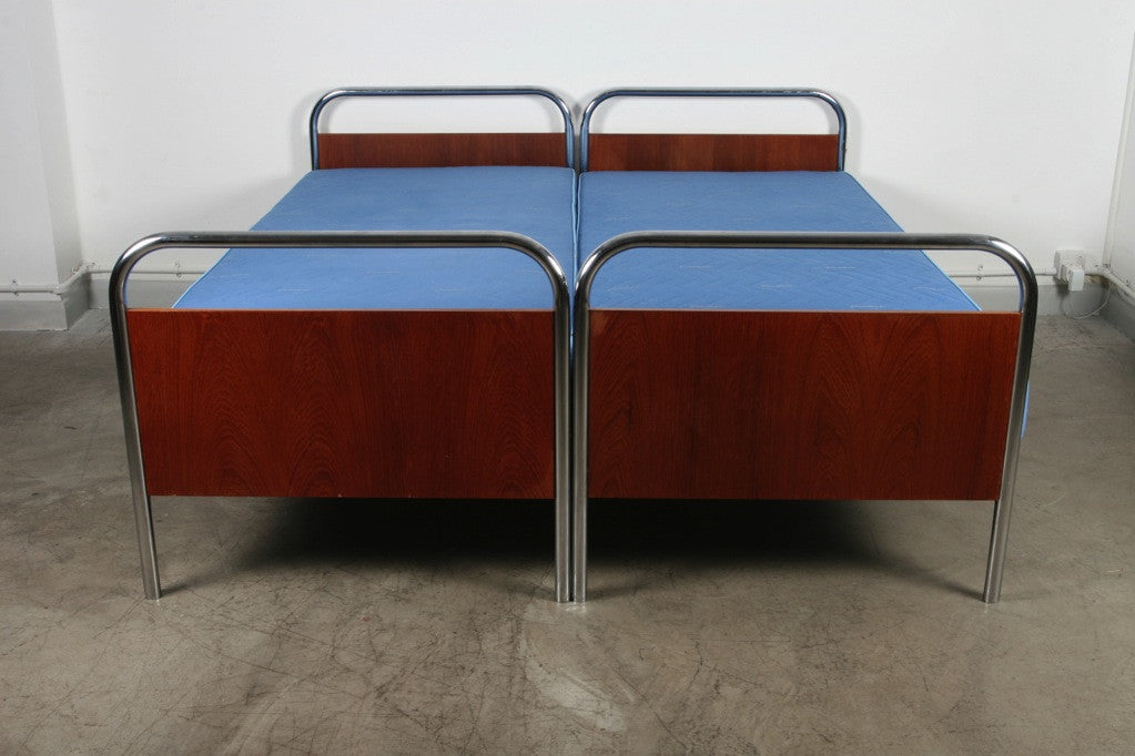 Pair of 1950s single beds