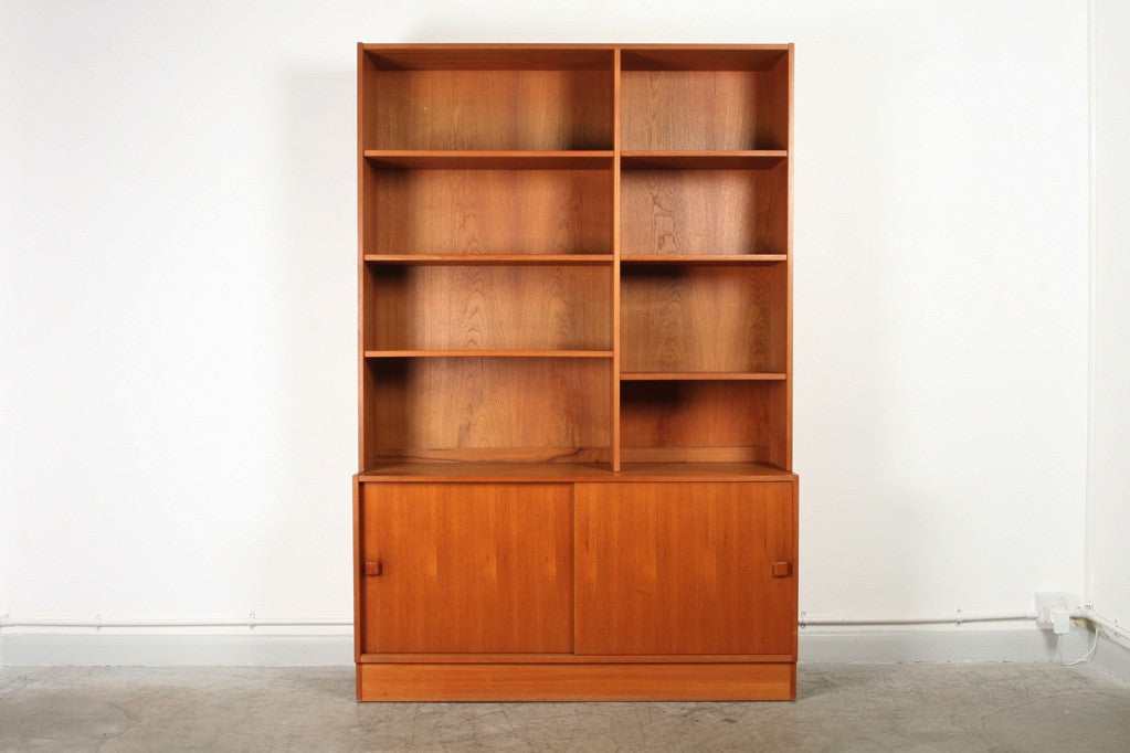 Teak wall unit by Domino MÌübler