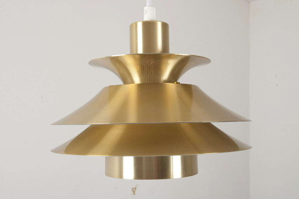 Small brass ceiling lamp