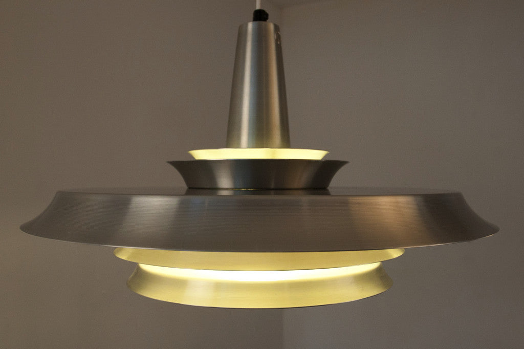 Multi-tiered chrome ceiling lamp