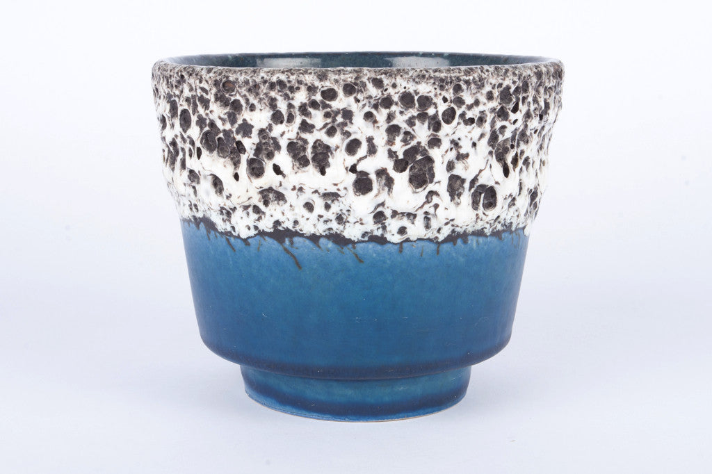 Chase & Sorensen Blue and white plant pot