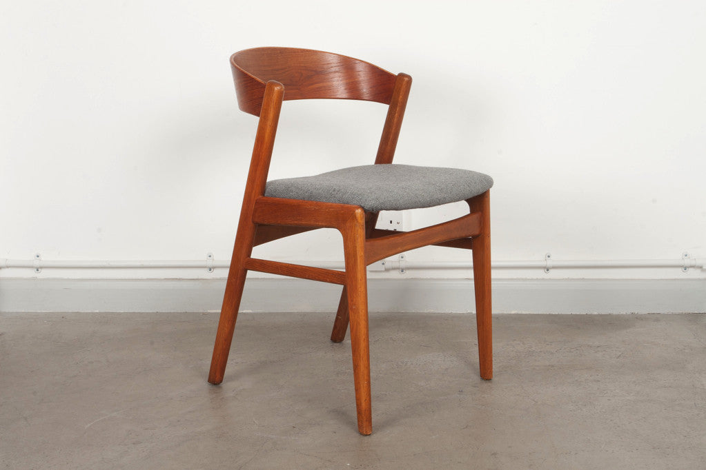 Teak and oak dining chair