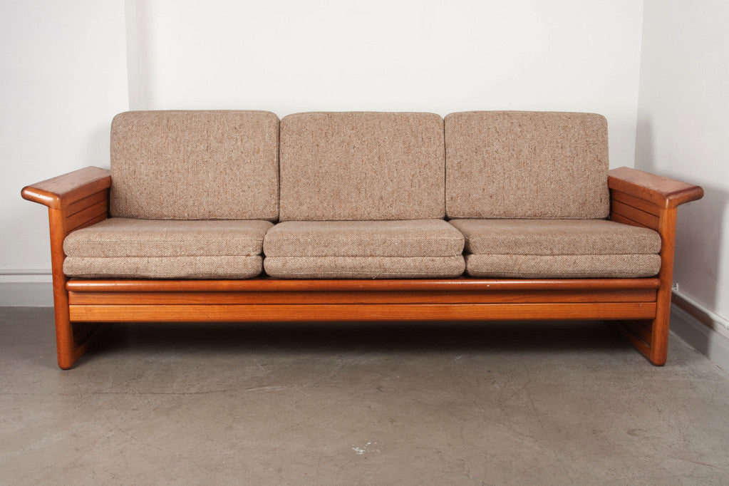 Teak sofa bed by Skipper