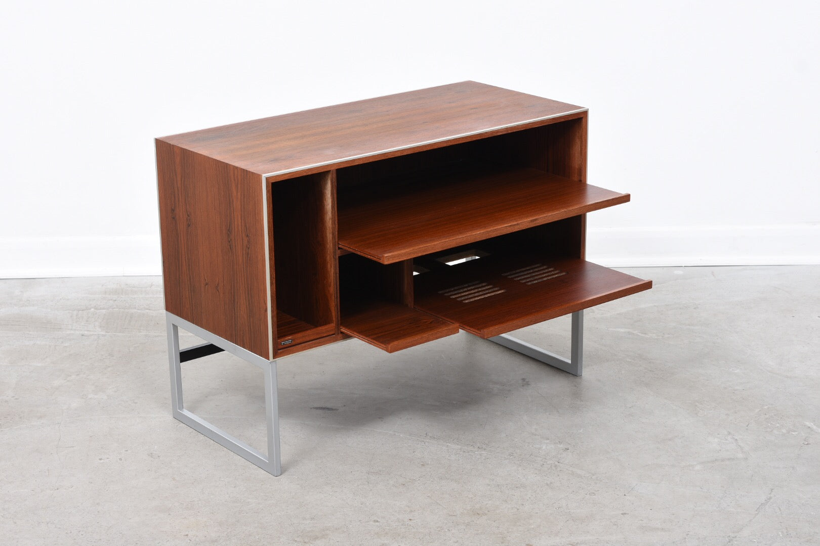 Rosewood hi-fi stand by Bang & Olufsen
