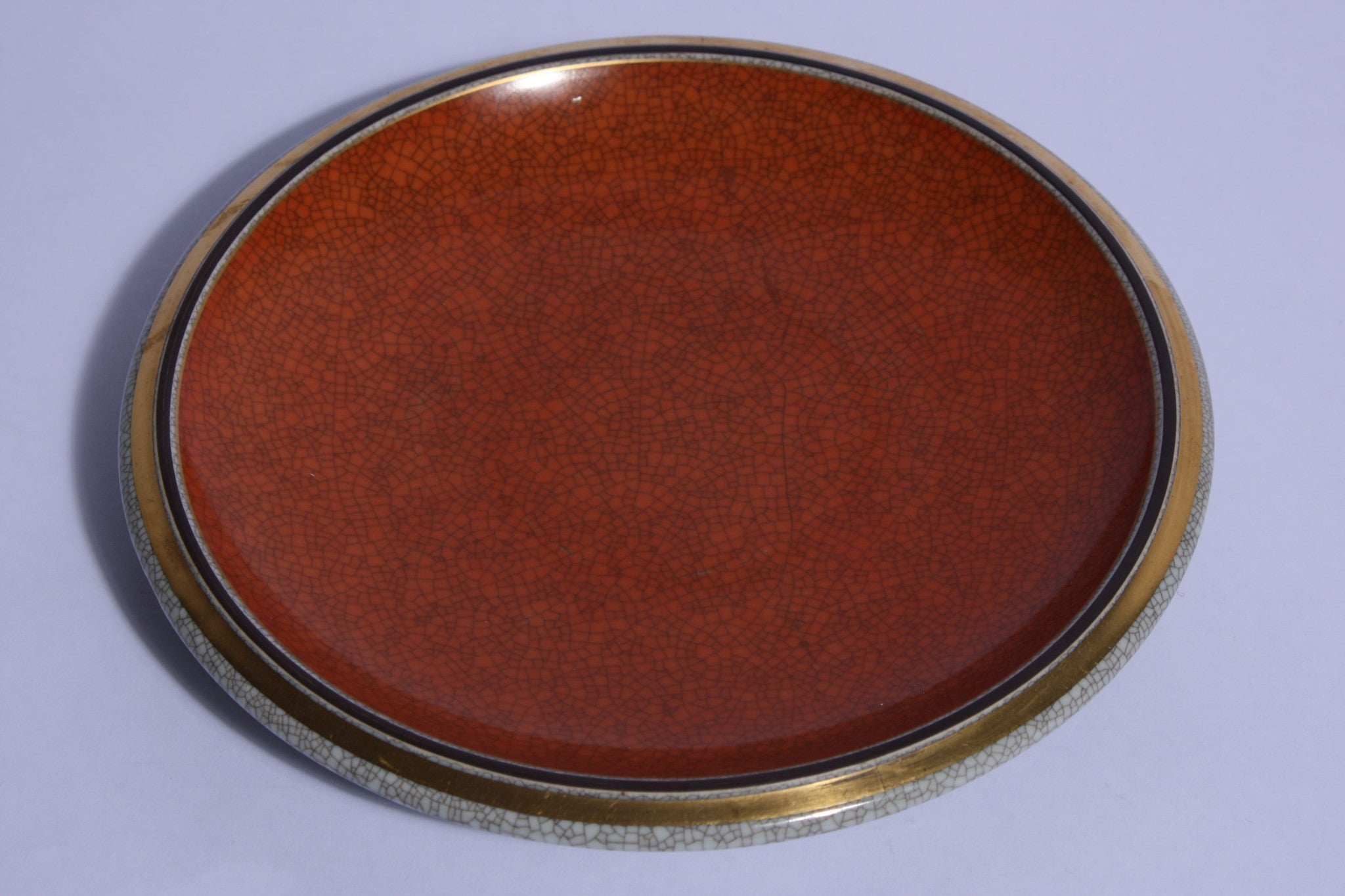 Royal Copenhagen crackleware plate no. 3