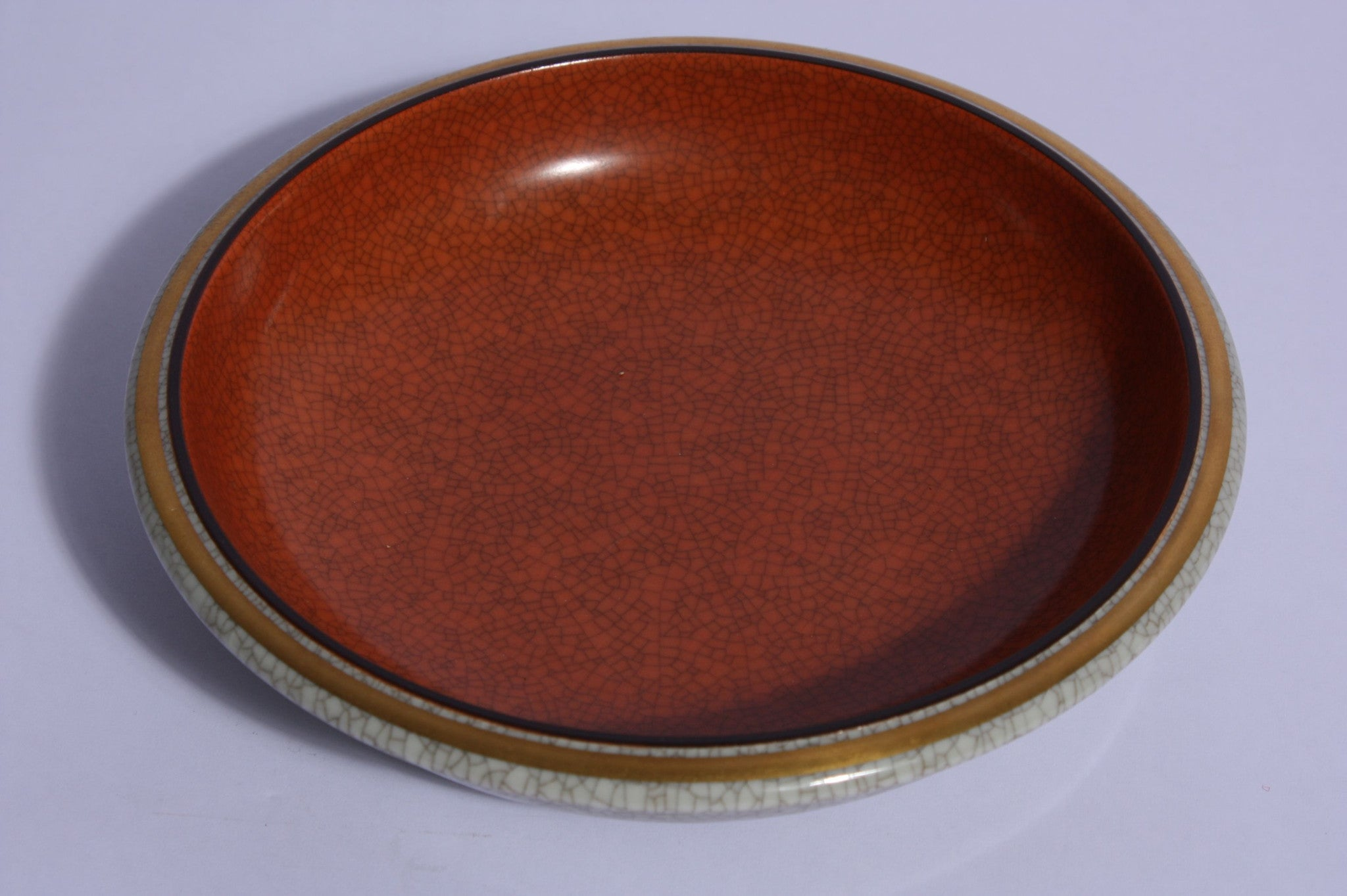 Royal Copenhagen crackleware plate no. 2