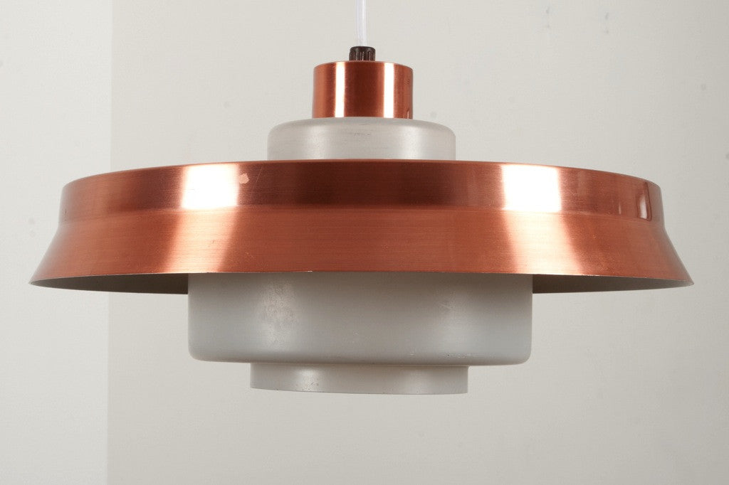 Copper / glass ceiling lamp