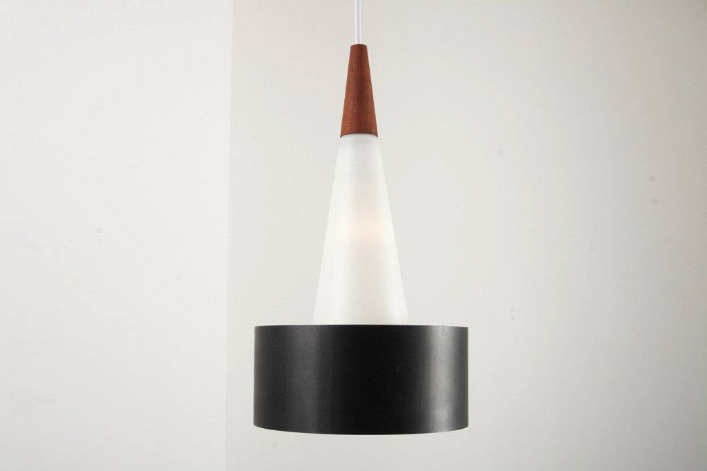 Glass cone ceiling lamp