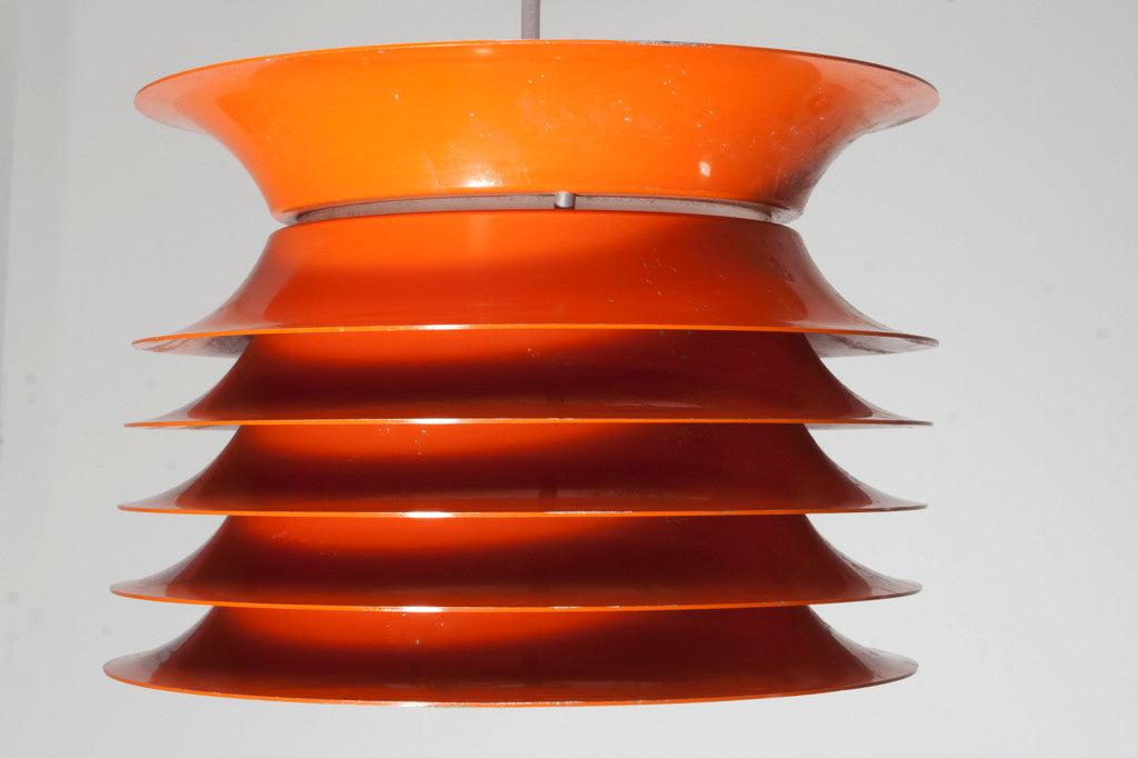 Orange ceiling lamp
