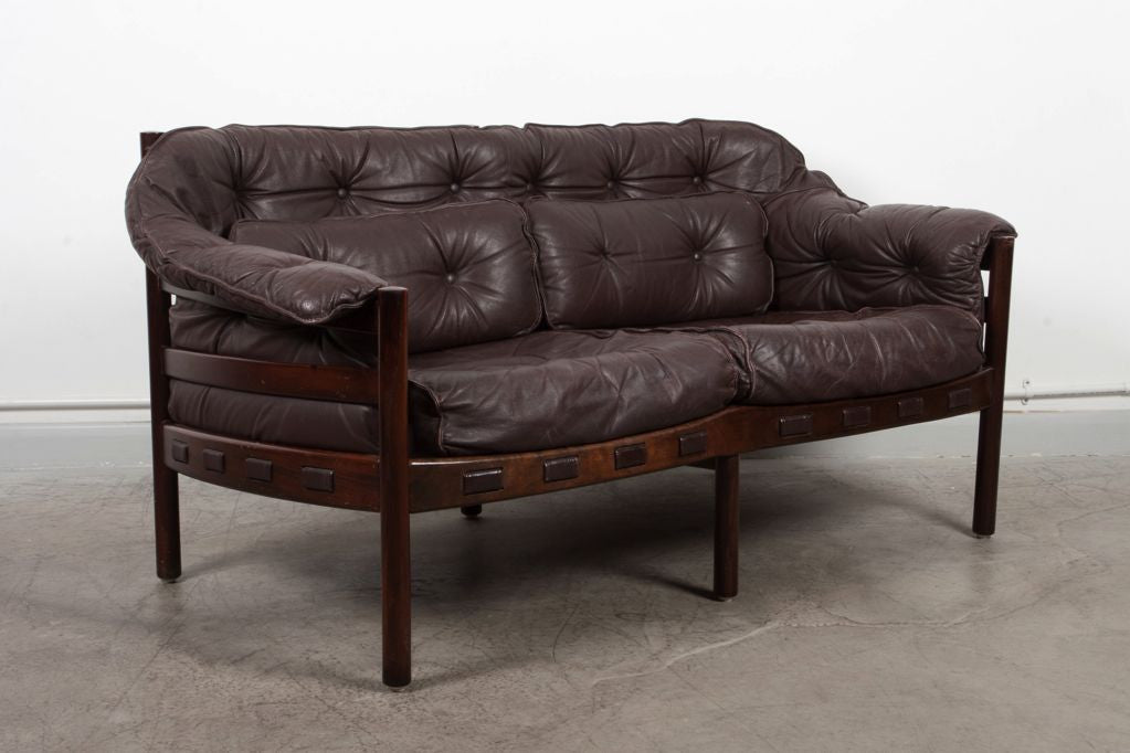 Two seat sofa in style of Arne Norell