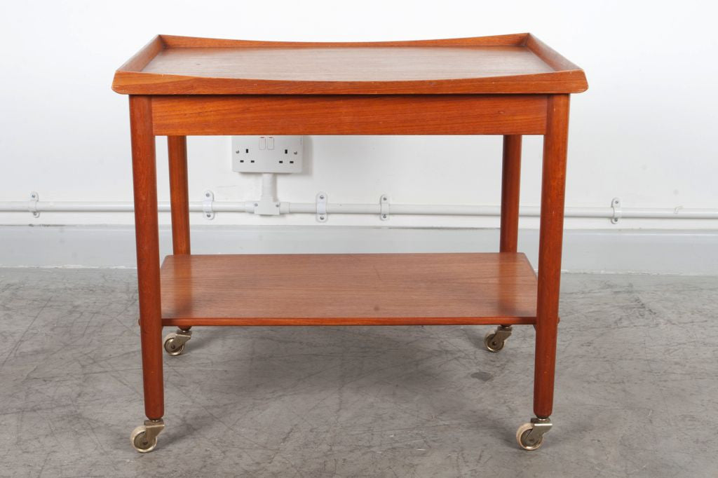 Teak tea trolley with tray by Finn Juhl