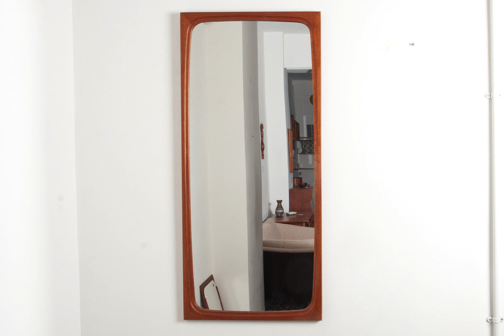 Rectangular teak mirror