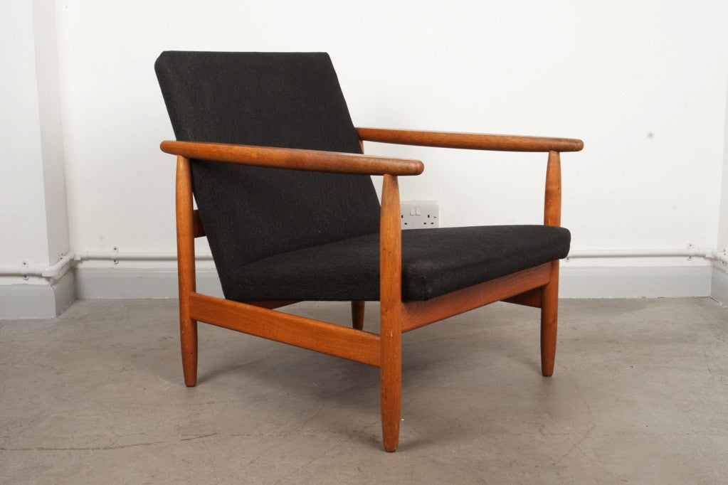 Low back lounge chair by Ejvind A. Johansson