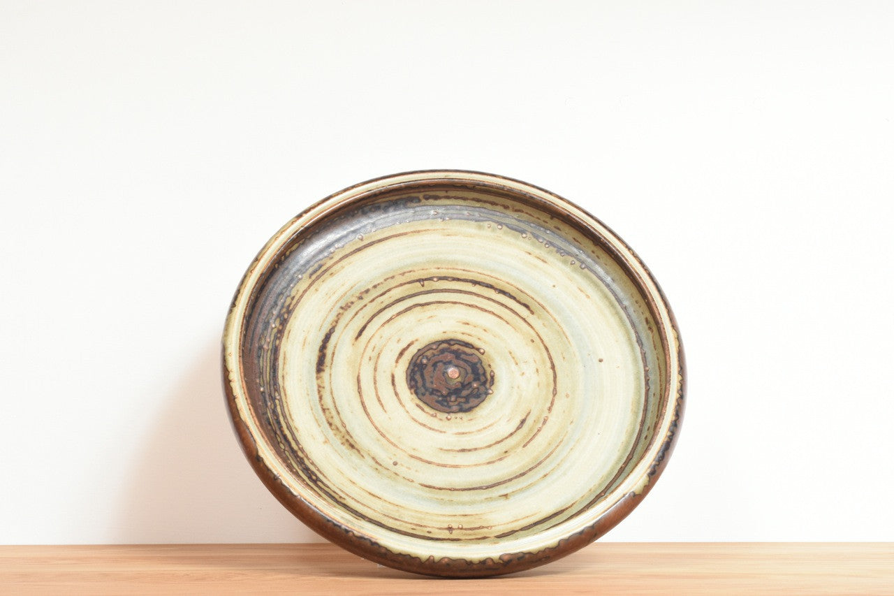Ceramic dish by Carl Halier for Royal Copenhagen