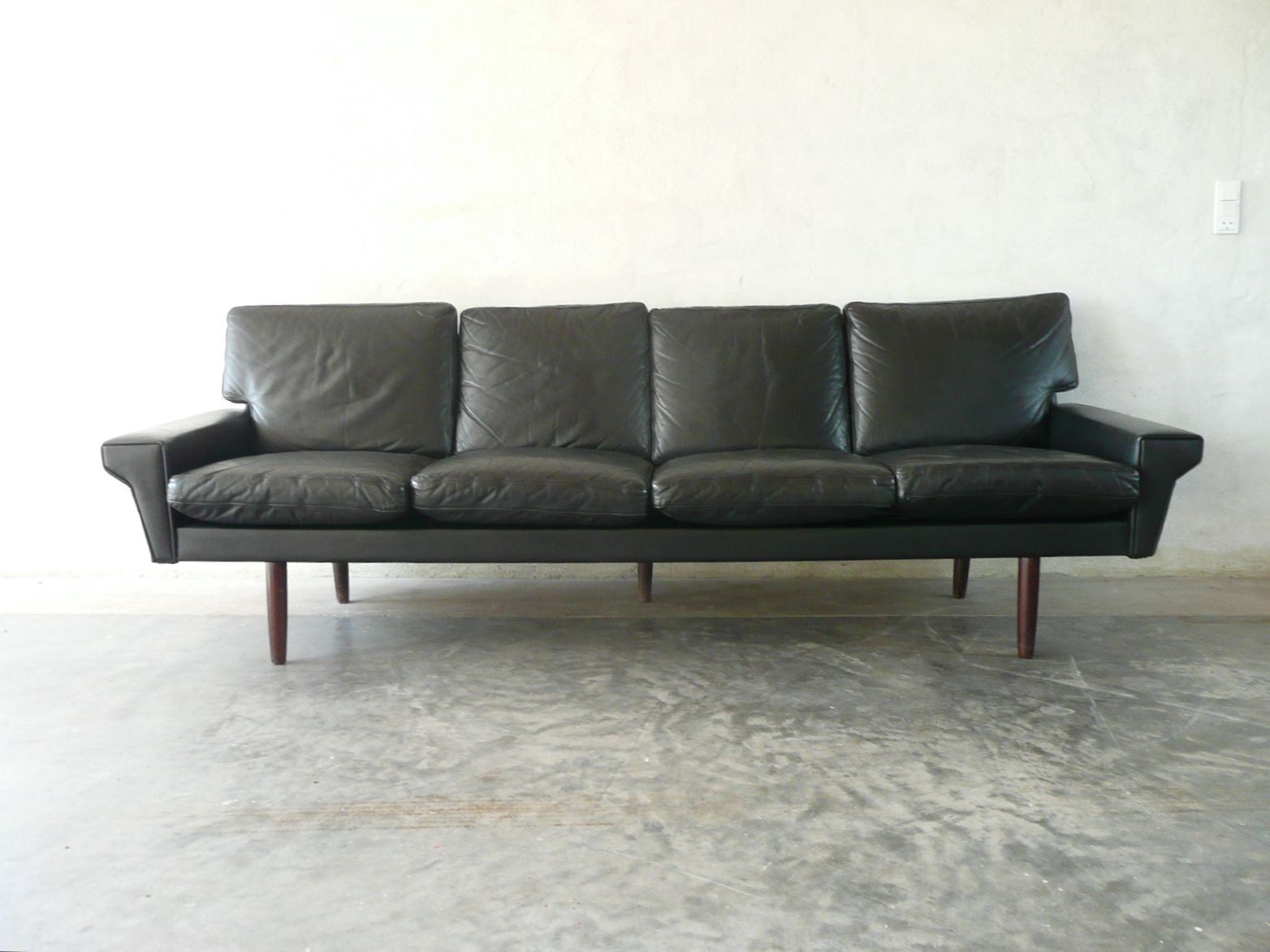 Four seat leather sofa