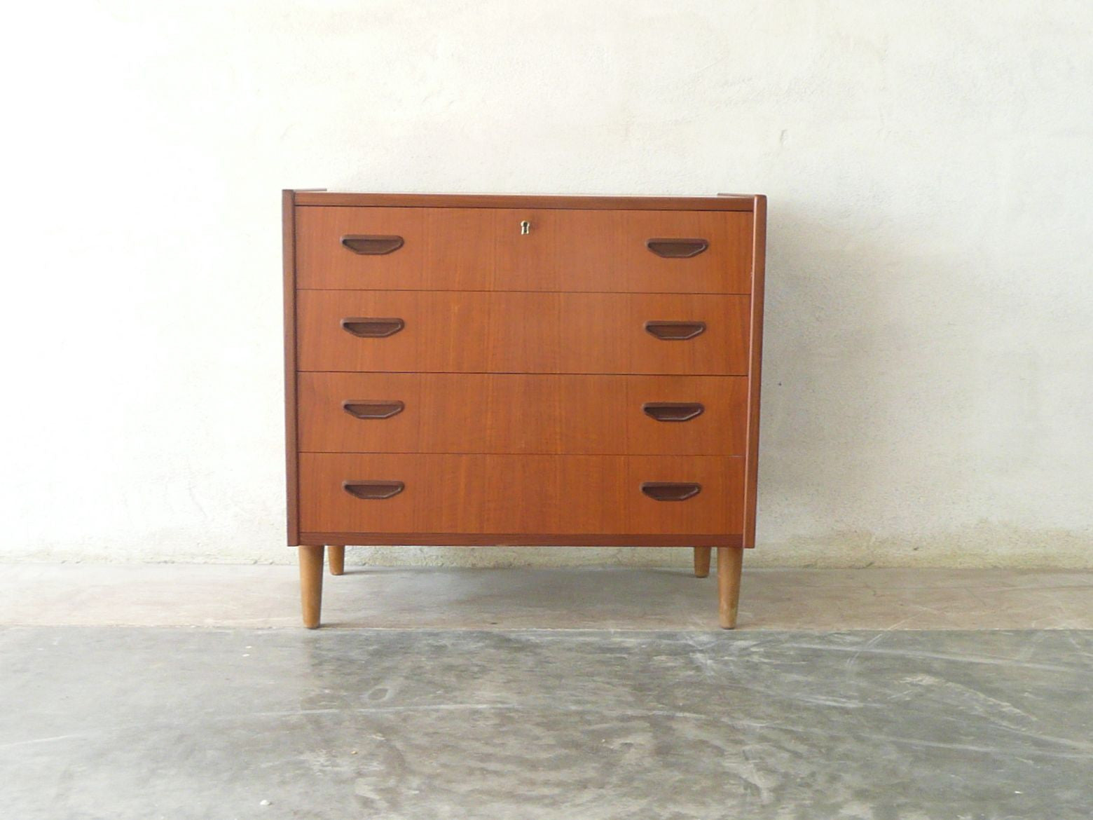 Short chest of four drawers by P. Westergaard