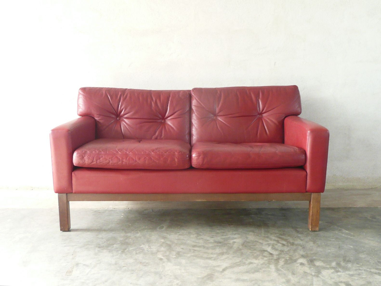 New price: Finnish two seat leather sofa